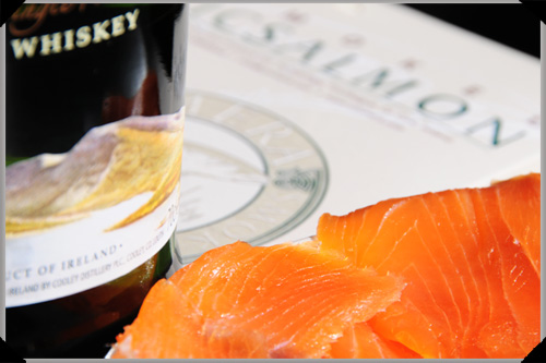Smoked salmon drizzled with Connemara whiskey