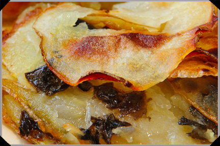 Potato gratin with dillisk