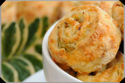 Cheesy sage and onion scones