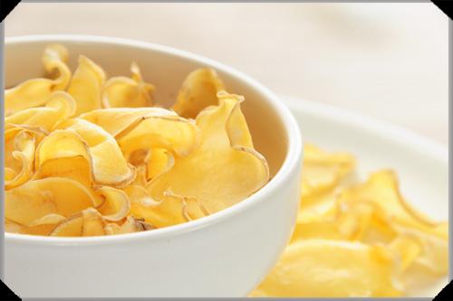 Oven-dried potato crisps