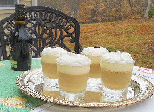 Irish coffee panna cotta