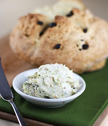 Soda bread and pistachio butter