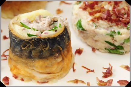 Mackerel potato roll