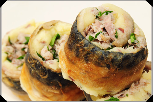 Mackerel potato rolls