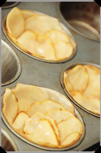 Potato cups uncooked