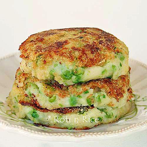 Green Peas and Mashed Potato Pancakes