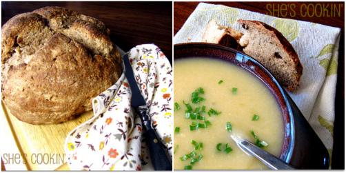Soda Bread And Potato And Leek Soup