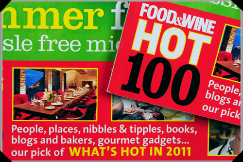 Food and Wine Hot 100