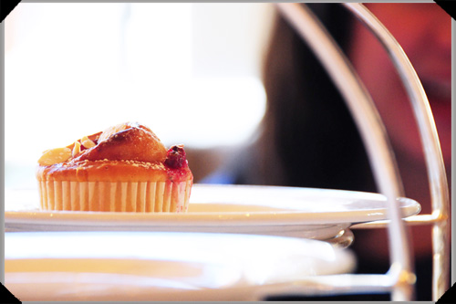 Pink berry and almond swirly bun