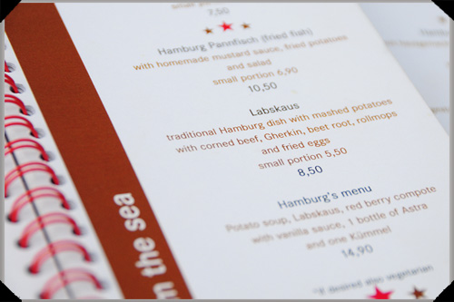 Labskaus on the menu