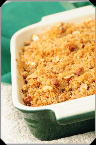 Rhubarb and potato gratin