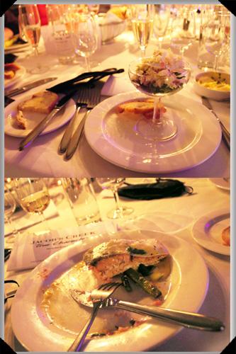 Crab and salmon