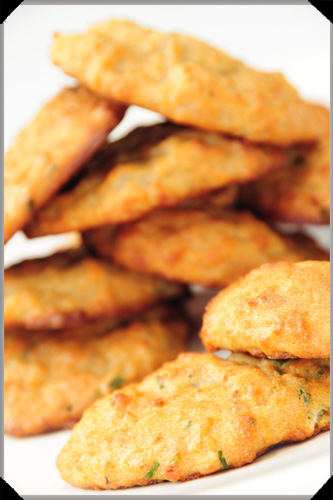 Potato cookies with chives