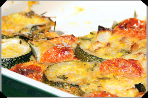 Tomato and courgette tian