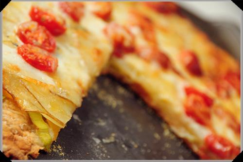 Cheese and potato pizza