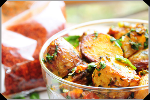 Middle eastern roasted potatoes