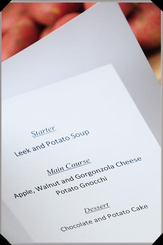 Potato menu