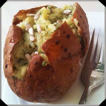 Herby baked potato