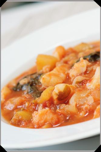 Potato and fish stew