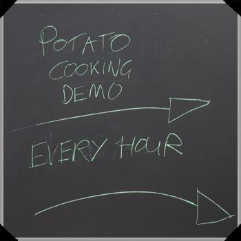 Potato cooking demo at Bloom