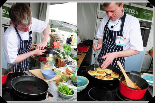 Ray Moran cooks potatoes at Bloom