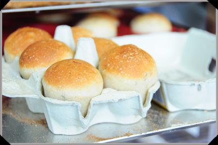 Potato rosemary bread egg carton