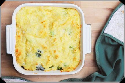 Cheesy potato and broccoli bake