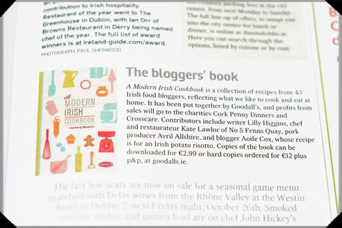 Irish Times: Goodall's Modern Irish Cookbook