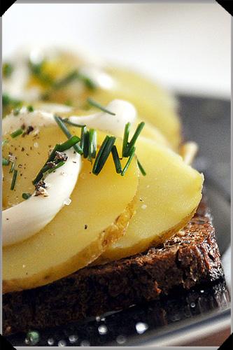 Kartoffelmad - Danish bread and potatoes