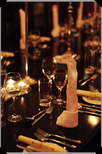 Dinner setting at Barnabrow
