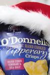 O'Donnells salt and vinegar crisps santa hat