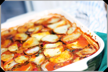 Potato Aubergine Bake