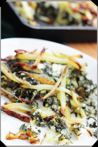 Spudakopita: potatoes, spinach, feta
