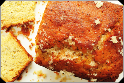 Lemon poppy seed cake with potato