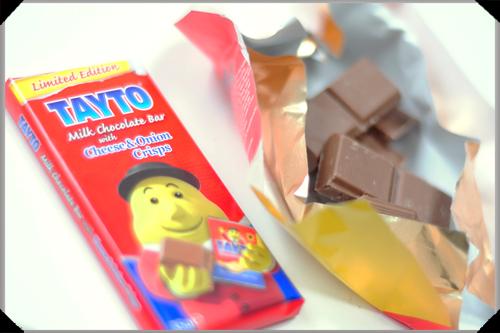 Tayto cheese and onion chocolate