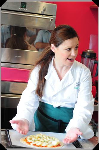 Catherine Fulvio making potato tart