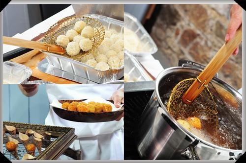 Cashel Blue Potato Fritters at Killruddery