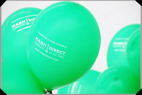 Mash Direct birthday balloons