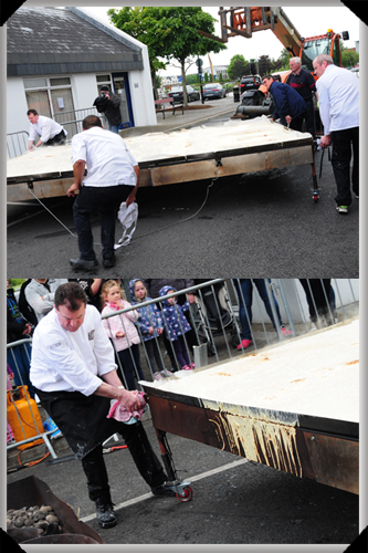 Turning the boxty pan